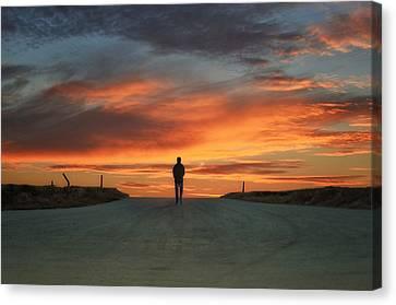 Walk Towards The Light Canvas Print by Steven  Michael