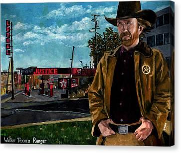 Walker Texaco Ranger - Lethal Justice Canvas Print by Thomas Weeks