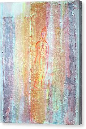 Walking Buddha Canvas Print by Asha Carolyn Young