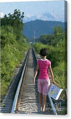 Walking Home Canvas Print by Antony McAulay