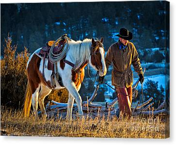 Walking Home Canvas Print by Inge Johnsson