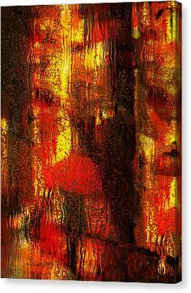 Walking In The Rain Canvas Print by Jack Zulli