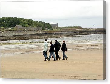 Walking On A Beach Canvas Print by Public Health England