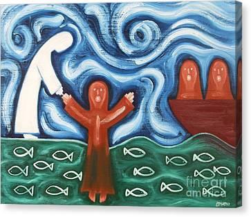 Walking On Water 2 Canvas Print by Patrick J Murphy