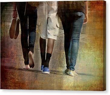 Walking The Walk Canvas Print by Lin Haring