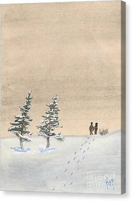 Walking Together Canvas Print by Robert Meszaros