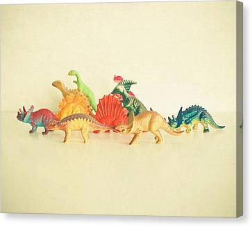Walking With Dinosaurs Canvas Print by Cassia Beck
