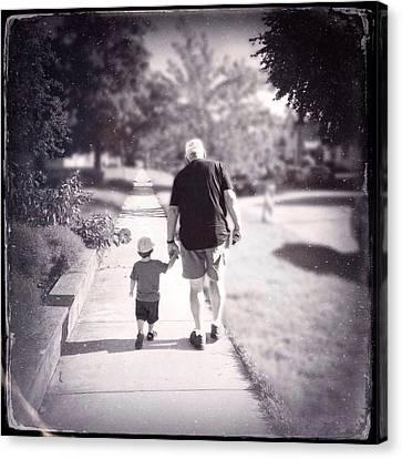 Walking With Grandpa Canvas Print by Natasha Marco