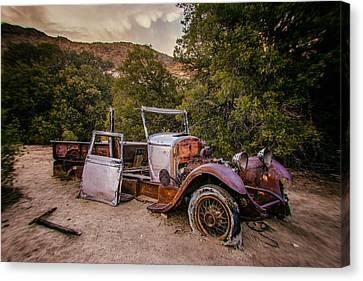 Wall Street Mine Pickup Canvas Print by Peter Tellone