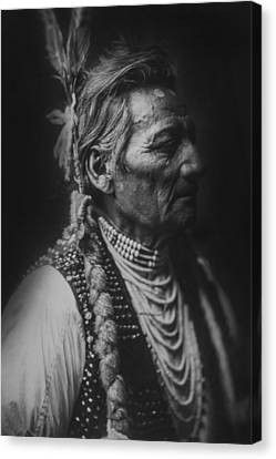 Walla Walla Indian Circa 1905 Canvas Print by Aged Pixel