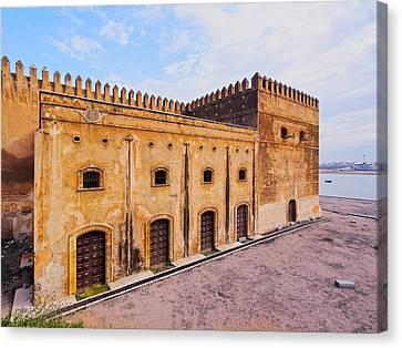 Walls Of Kasbah Of The Udayas In Rabat Canvas Print by Karol Kozlowski