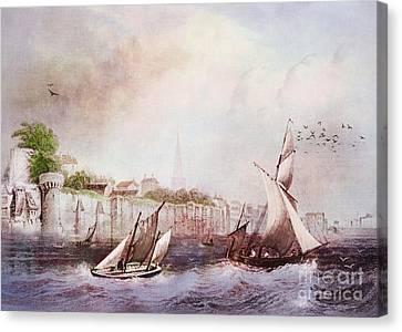 Walls Of Southampton Canvas Print by Lianne Schneider