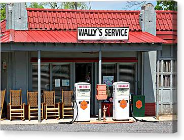 Wally's Service Station Mayberry Nc Canvas Print by Bob Pardue