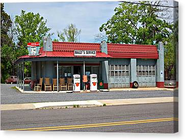 Wallys Service Station Mt. Airy Nc Canvas Print by Bob Pardue