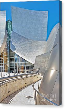 Walt Disney Concert Hall Los Angeles Ca 2 Canvas Print by David Zanzinger