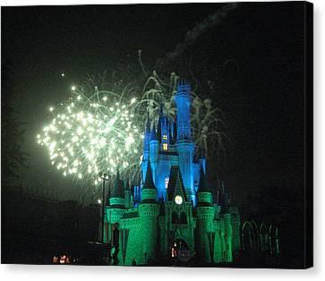 Walt Disney World Resort - Magic Kingdom - 121218 Canvas Print by DC Photographer