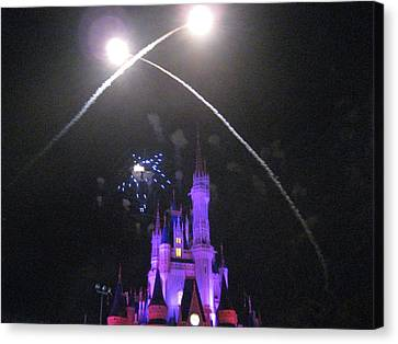 Walt Disney World Resort - Magic Kingdom - 121223 Canvas Print by DC Photographer