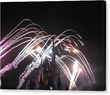 Walt Disney World Resort - Magic Kingdom - 121262 Canvas Print by DC Photographer