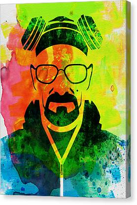 Walter Watercolor Canvas Print by Naxart Studio