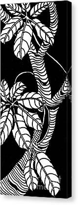 Wandering Leaves Octopus Tree Design Canvas Print by Mukta Gupta