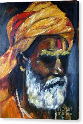 Wandering Sage Canvas Print by Mukta Gupta