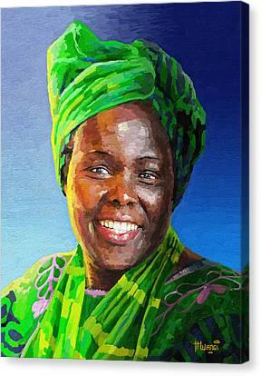 Wangari Maathai Canvas Print by Anthony Mwangi