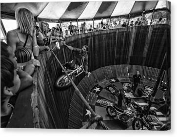Wall Of Death Canvas Print by Kevin Cable