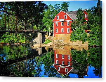 War Eagle Mill And Bridge - Arkansas Canvas Print by Gregory Ballos