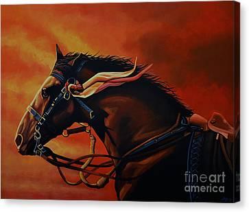 War Horse Joey  Canvas Print by Paul Meijering