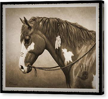 War Horse Old Photo Fx Canvas Print by Crista Forest