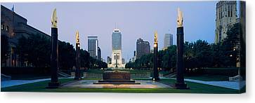 War Memorial In A City, Cenotaph Canvas Print by Panoramic Images