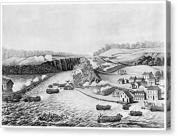 War Of 1812 Queenston Canvas Print by Granger