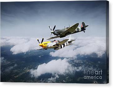 Warbird Wonders  Canvas Print by J Biggadike
