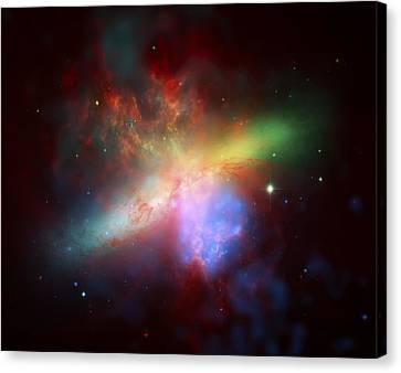 Warm Star Blast Canvas Print by The  Vault - Jennifer Rondinelli Reilly