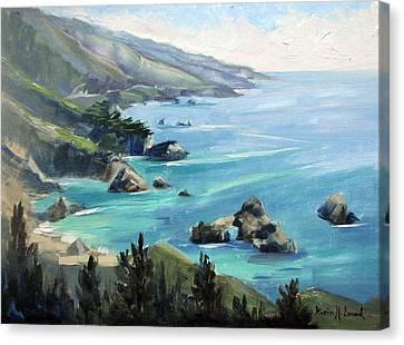 Warm Winter Day Big Sur Canvas Print by Karin  Leonard