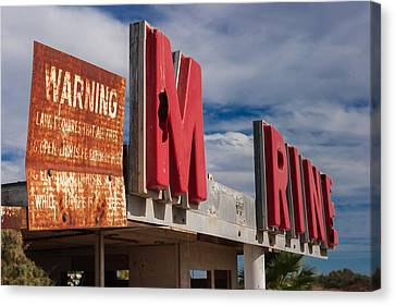 Warning M Rine Canvas Print by Scott Campbell