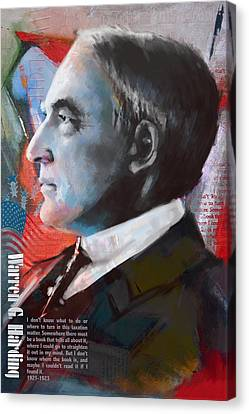 Warren G. Harding Canvas Print by Corporate Art Task Force