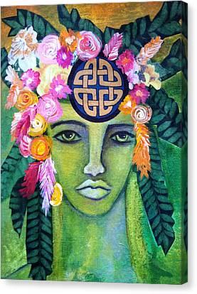 Warrior Goddess Canvas Print by Tracie Hanson