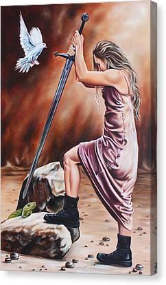 Warrior Canvas Print by Ilse Kleyn