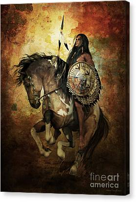 Warrior Canvas Print by Shanina Conway