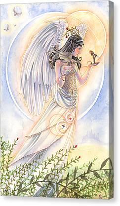 Warrior's Angel Canvas Print by Sara Burrier