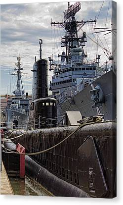 Warship Parking Only Canvas Print by Peter Chilelli