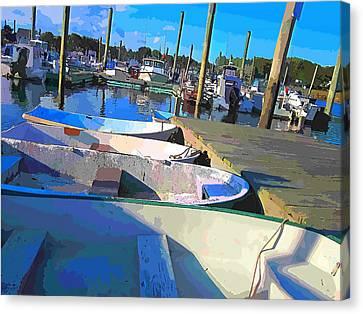 Warwick Marina Canvas Print by Lourry Legarde