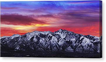 Wasatch Sunrise 2x1 Canvas Print by Chad Dutson