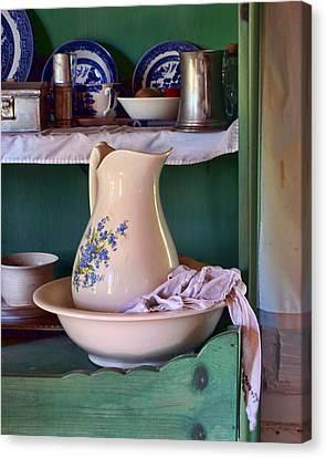 Wash Basin Still Life Canvas Print by Nikolyn McDonald