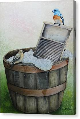 Wash Day Canvas Print by Theresa Stinnett