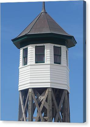 Wash Woods Coast Guard Tower Canvas Print by Cathy Lindsey