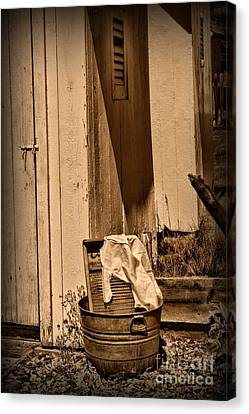 Washboard By The Outhouse Canvas Print by Paul Ward