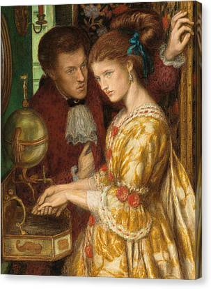 Washing Hands Canvas Print by Dante Gabriel Charles Rossetti