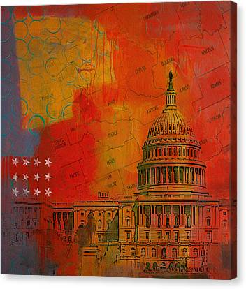 Washington City Collage Alternative Canvas Print by Corporate Art Task Force